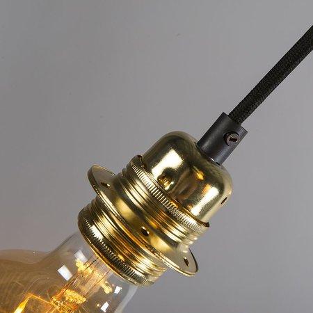 QAZQA Hanglamp - CAVA 5 - Goud