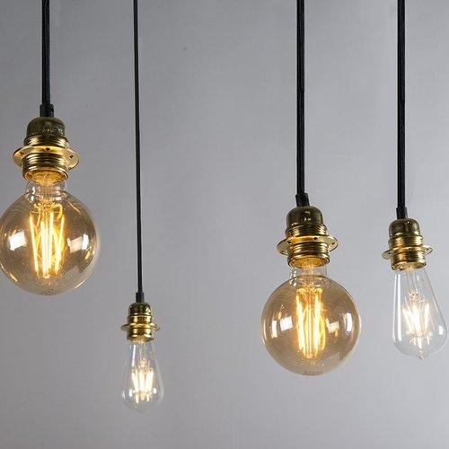 QAZQA Hanging lamp - CAVA 5 - Gold