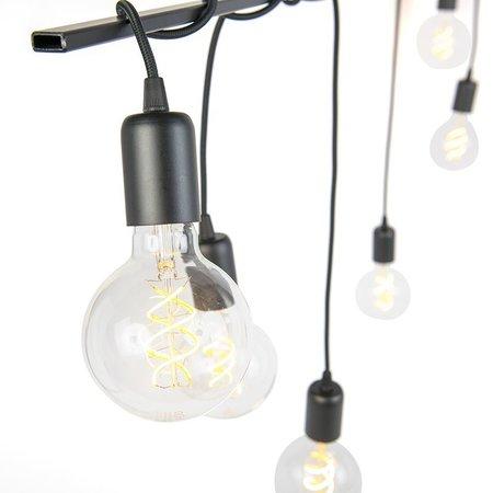 QAZQA Facile - Moderne hanglamp - gedraaide kabels - H 800 mm - Zwart