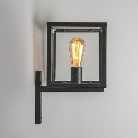 QAZQA Vintage Wall lamp ROTTERDAM Black