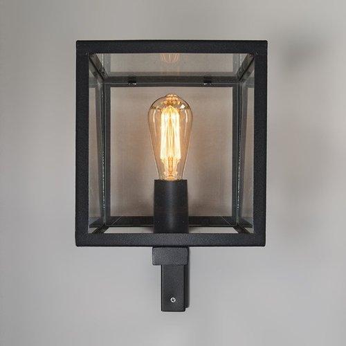 QAZQA Vintage Wandlamp ROTTERDAM Zwart