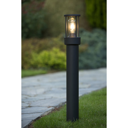 Lucide LORI - Sokkellamp Buiten - E27 - IP44 - Antraciet - 14893/80/30