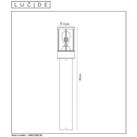 Lucide LORI - Sokkellamp Buiten - E27 - IP44 - Antraciet