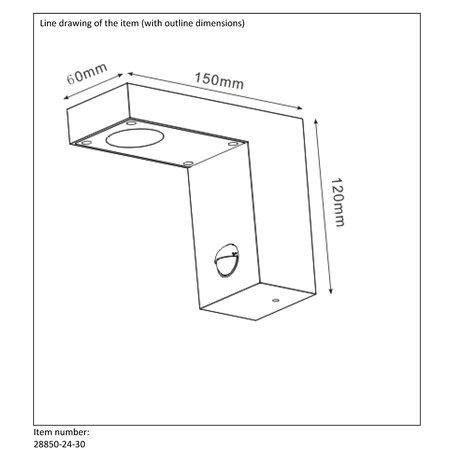 Lucide Wandlamp TEXAS sensor Buiten 28850/24/30