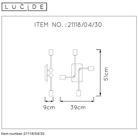 Lucide Plafondlamp LESTER 21118/04/30