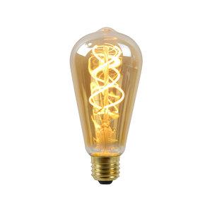 Lucide Ampoule LED - Lampe à filament - ST64 - LED Dimb. - E27 - 1x5W 2200K - Ambre