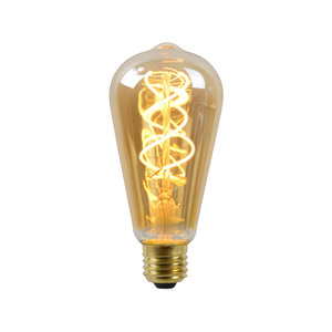 Lucide LED Bulb - Filament lamp - ST64 - LED Dimb. - E27 - 1x5W 2200K - Amber