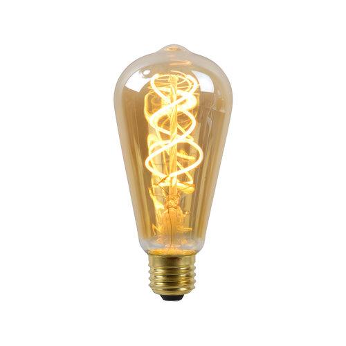 Philips Ampoule LED - Lampe à filament - ST64 - LED Dimb. - E27 - 1x5W 2200K - Ambre