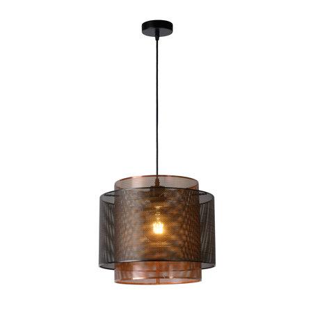 Lucide ORRIN - Hanging lamp - Ø 34 cm - E27 - Black - 02404/01/30