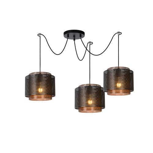 Lucide ORRIN - Hanglamp - Ø 34 cm - E27 - Zwart - 02404/03/30