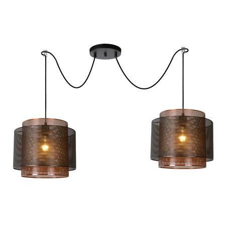 Lucide ORRIN - Hanging lamp - Ø 34 cm - E27 - Black - 02404/02/30
