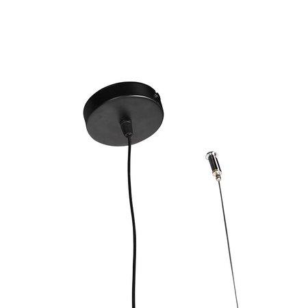 QAZQA Moderne hanglamp 3-lichts 120cm E27 zwart - Simple Cage - 97941