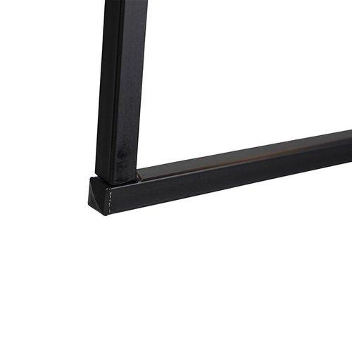QAZQA Lampe suspension moderne 3 lumières 120cm E27 noire - Simple Cage - 97941