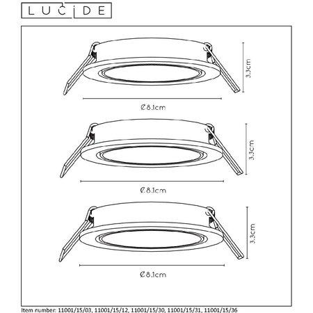 Lucide FOCUS - Recessed spot - Ø 8.1 cm - LED Dimb. - GU10 - 3x5W 3000K - Black - Set of 3