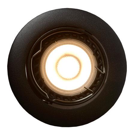 Lucide FOCUS - Spot encastré - Ø 8.1 cm - LED Dimb. - GU10 - 3x5W 3000K - Noir - Ensemble de 3