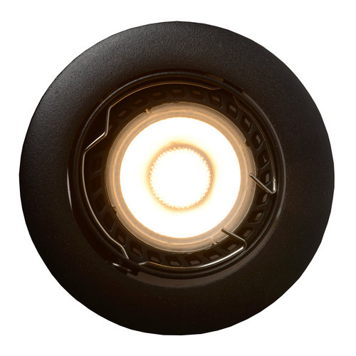 Lucide FOCUS - Recessed spot - Ø 8.1 cm - LED Dimb. - GU10 - 3x5W 3000K - Black - Set of 3