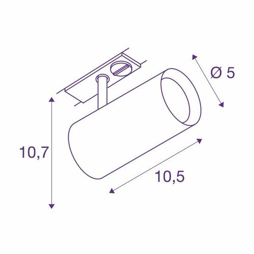 Single-phase LED track spotlight NOBLO 7.5W-2700 ° K