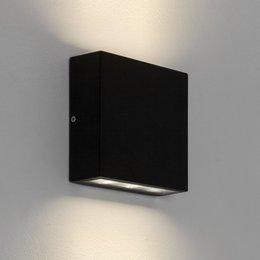Astro applique murale Elis Twin LED texture noire IP54