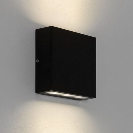 Astro wall light Elis Twin LED Black texture IP54