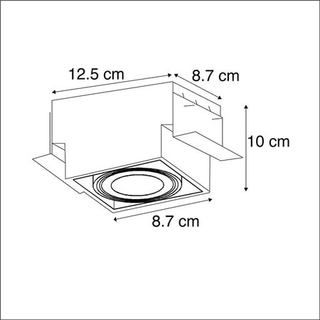 QAZQA Spot intégré Oneon 1 GU10 Trimless
