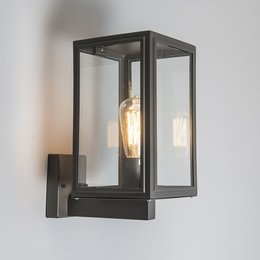 QAZQA Vintage wall lamp SUTTON UP anthracite