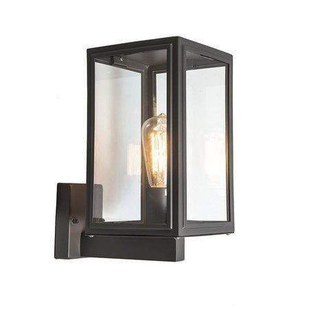 QAZQA Vintage Wandlamp SUTTON UP antraciet