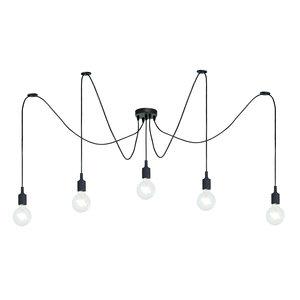 Lucide FIX MULTIPLE - Hanglamp - 5xE27 - Zwart - 08408/05/30