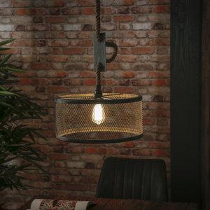 LioLights Lampe suspendue vintage Ø40 en corde réglable