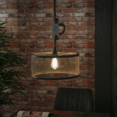 LioLights Vintage hanging lamp Ø40 mesh adjustable rope
