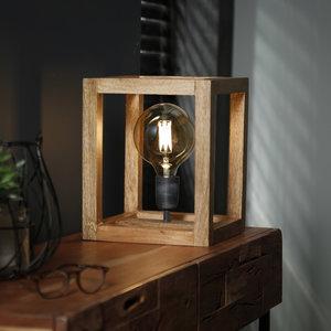 LioLights Tafellamp 25x25 houten frame