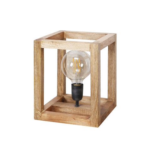 LioLights Table lamp 25x25 wooden frame