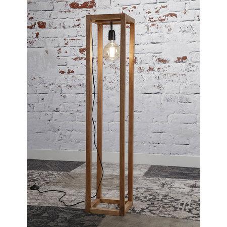 LioLights Vloerlamp 25x25 houten frame