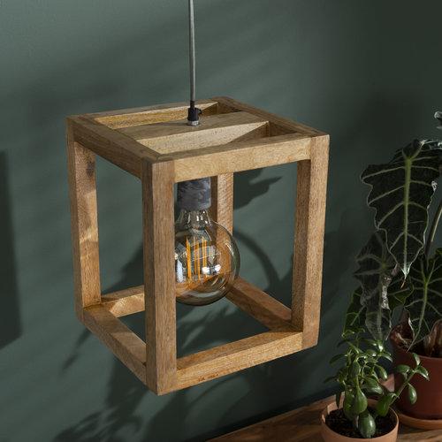 LioLights Vintage Hanglamp 1x houten frame