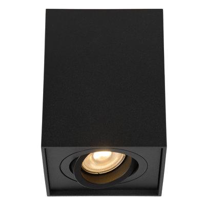 Lucide TUBE - Plafondspot - GU10 - Zwart 22953/01/30