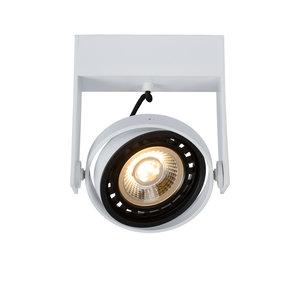 Lucide GRIFFON - Spot de plafond - LED à faible intensité - GU10 - 1x12W 3000K / 2200K - Blanc