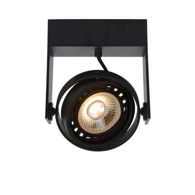 Lucide GRIFFON - Ceiling spot - LED Dim to warm - GU10 - 1x12W 3000K / 2200K - Black