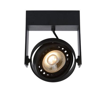 Lucide GRIFFON - Spot de plafond - LED dim pour réchauffer - GU10 - 1x12W 3000K / 2200K - Noir
