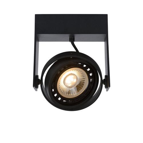 Lucide GRIFFON - Ceiling spot - LED Dim to warm - GU10 - 1x12W 3000K / 2200K - Black