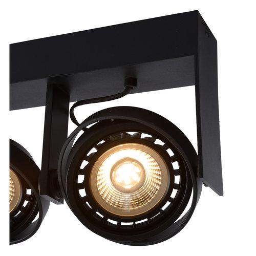 Lucide GRIFFON - Spot de plafond - LED dim pour réchauffer - GU10 - 2x12W 3000K / 2200K - Noir