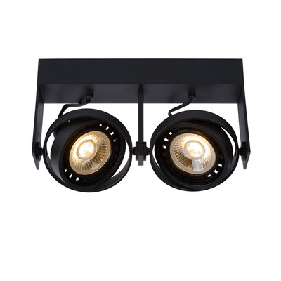 Lucide GRIFFON - Ceiling spot - LED Dim to warm - GU10 - 2x12W 3000K / 2200K - Black
