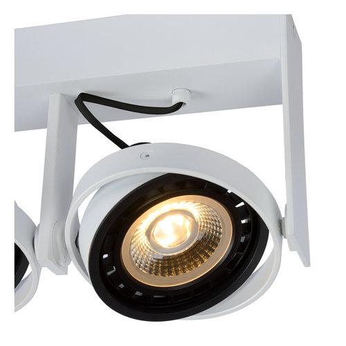 Lucide GRIFFON - Plafondspot - LED Dim to warm - GU10 - 2x12W 3000K/2200K - Wit