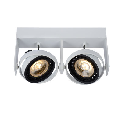 Lucide GRIFFON - Ceiling spot - LED Dim to warm - GU10 - 2x12W 3000K / 2200K - White