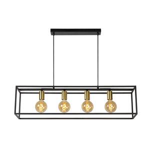Lucide RUBEN - Hanglamp - E27 - Zwart -  00424/04/30