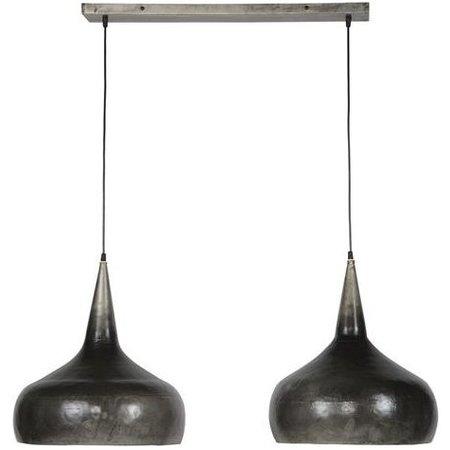 LioLights Lampe à suspension vintage 2xØ40 entonnoir