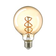LioLights E27 Retro Filament LED Ø 9.5 cm Dimmable 5.5W
