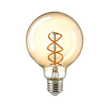 LioLights E27 Retro Filament LED Ø 9,5 cm Dimbaar 5.5W