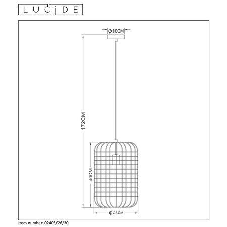 Lucide ESMEE - Hanglamp - Ø 26 cm - E27 - Zwart - 02405/26/30