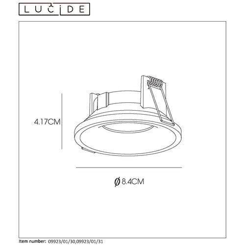 Lucide ZIVA - Built-in spot Bathroom - Ø 8.5 cm - GU10 - IP44 - Black - 09923/01/30