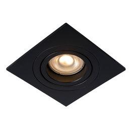 Lucide Inbouwspot TUBE - Inbouwspot - GU10 - Zwart - 22955/01/30