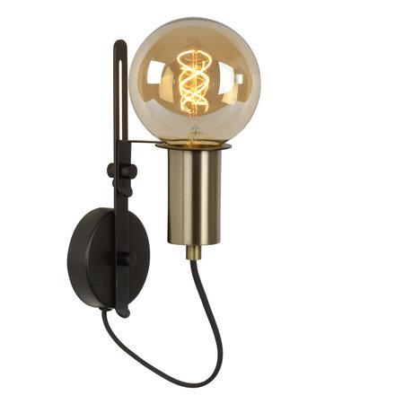 Lucide MALCOLM - Wall lamp - E27 - Black - 45278/01/30